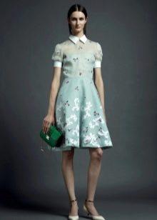 Платье в стиле 40-х а-силуэта