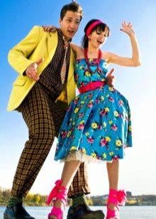 Платье в стиле 50-х стиляг