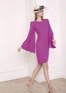 Платье в стиле ретро с длинным рукавом