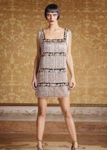 Платье в стиле Чикаго с квадратным вырезом