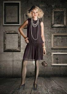 Платье в стиле Чикаго с драпировкой