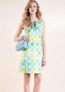 Платье в стиле ретро трапеция цветное