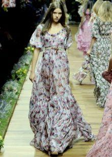 Платье в стиле хиппи цветное