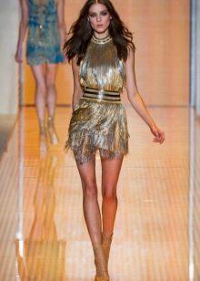Платье  в стиле диско мини