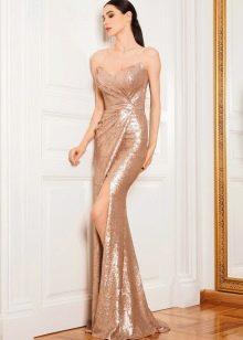 Платье  в стиле диско в пол