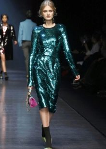 Платье  в стиле диско миди