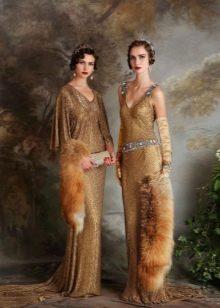 Платье в стиле ретро с заниженной талией