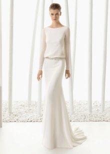 Подвенечное платье простое