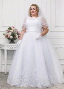 Подвенечное платье большого размера с фатой