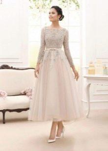 Подвенечное платье миди