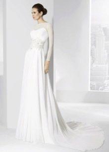 Подвенечное платье простое в пол