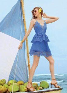 Приталенное  платье летнее