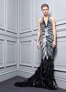 Приталенное  платье с тигровым принтом