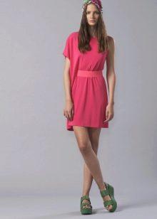 Приталенное платье ассиметричное