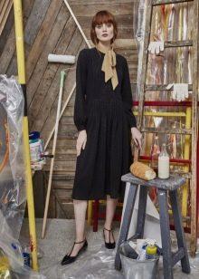 Приталенное  платье трикотажное а-силуэта