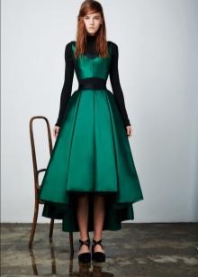 Приталенное  платье на выпускной короткое спереди длинное сзади