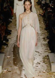 Приталенное расклешенное платье  в греческом стиле