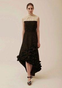 Зимнее платье трикотажное хай-лоу
