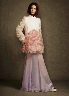 Полушубок под зимнее платье