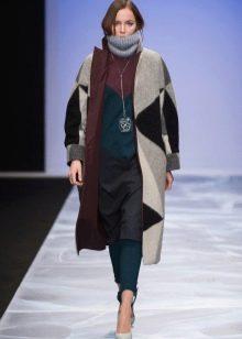 Зимнее платье-туника трикотажное