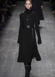 Зимнее платье-сарафан