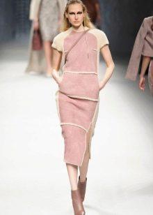 Зимнее платье теплое