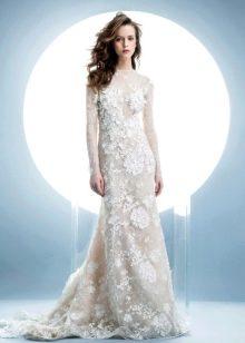 Зимнее платье свадебное кружевное