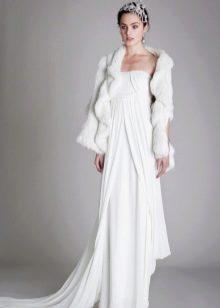 Зимнее платье свадебное с пиджаком
