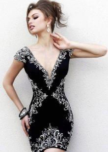 Серебряные украшения к черному платью