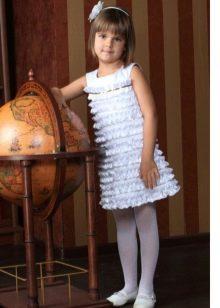 Многоярусное платье для девочек 6-8 лет