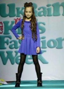 платье короткое для девочек 6-8 лет