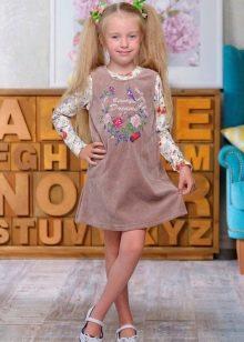 Свободное платье для девочек 6-8 лет
