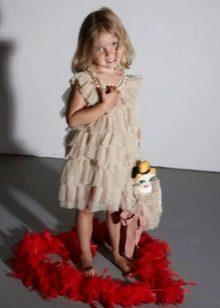 Платье многоярусное для девочек