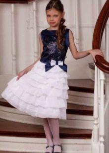 Платье для девочек 9-11 лет приталенное