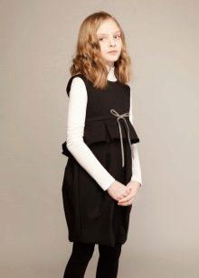 Платье для школы для девочек 9-11 лет