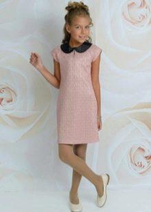 Нарядное платье для девочек с воротником