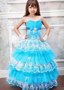 Нарядное пышное платье-бюстье для девочек