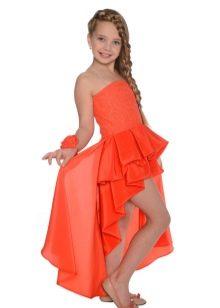 Нарядное платье для девочек короткое спереди длинное сзади