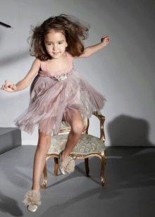 Дизайнерское шифоновое платье для девочек
