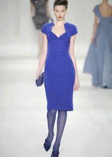 Синие колготы к синему платью