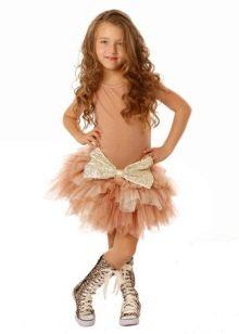 Платье-пачка короткое для девочки