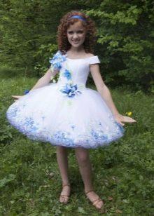 Платье-пачка короткое для девочки белое