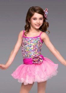 Платье-пачка короткое для девочки с блестками