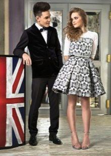 Платье в стиле нью лук короткое для девочки