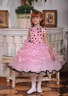 Платье пышное в стиле ретро короткое для девочки