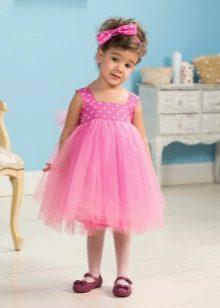 Летнее платье для девочки из фатина