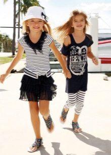 Летнее платье для девочки морское