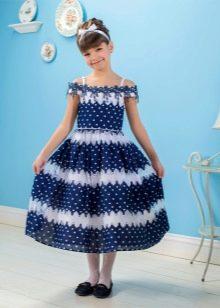 Летнее платье для девочки в морском стиле