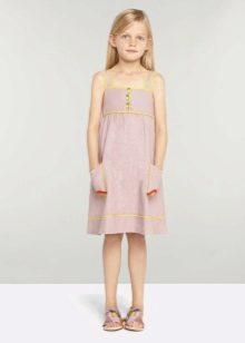 Летний сарафан  для девочки 5-8 лет