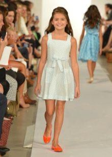 Платье в клетку для девочки 11 лет